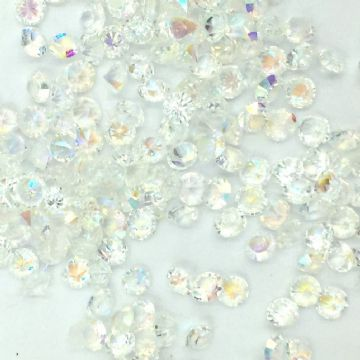 Resin sparkling crystals - 3mm - Clear AB